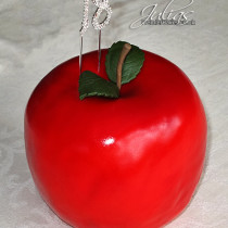 Rice crispy treat apple